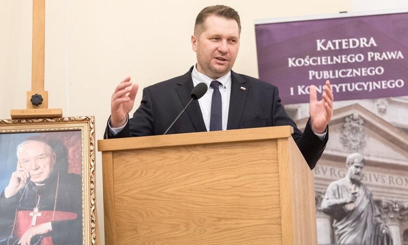 Szef resortu edukacji i nauki Przemysław Czarnek.