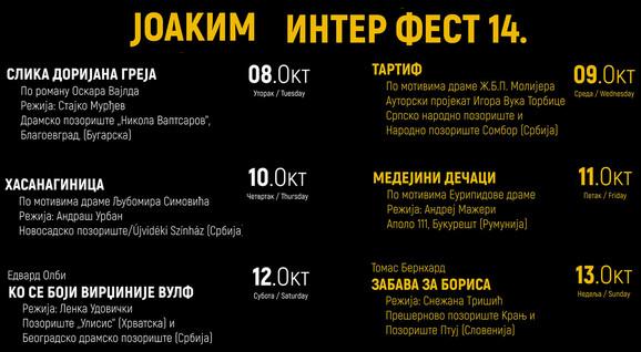 Kragujevac Knjazevsko-srpski teatar program XIV Joakim interfesta