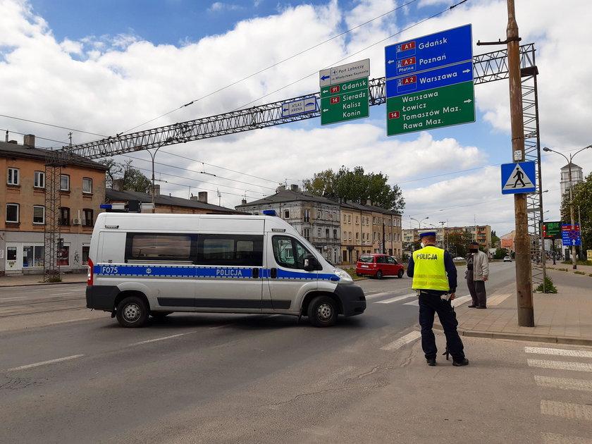 Wypadek na przejściu przy Rzgowskiej w Łodzi. Ranny pieszy