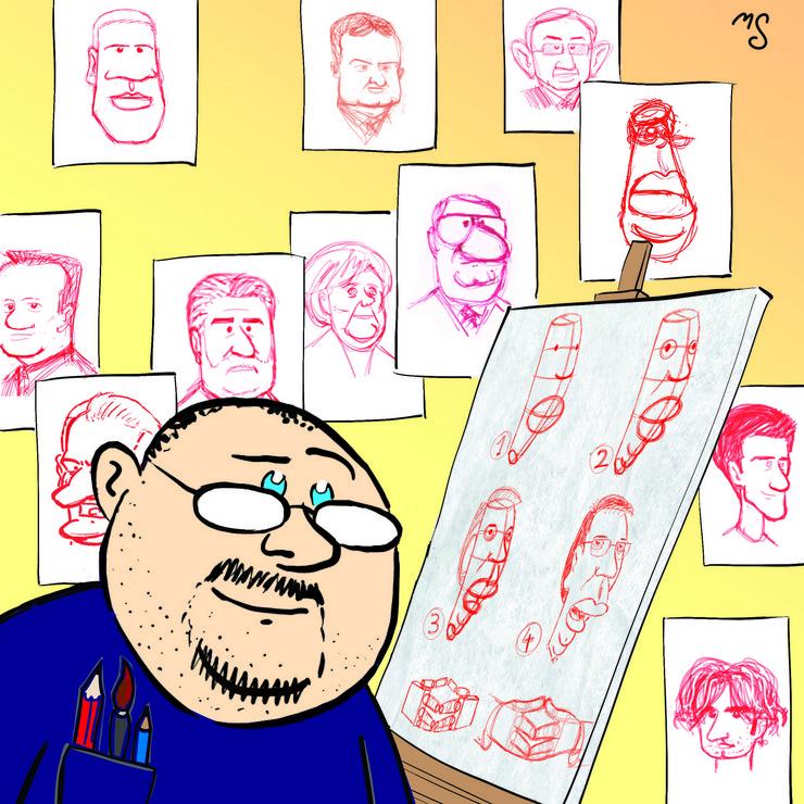 Marko Somborac, Blic strip