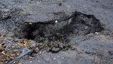 Wielka dziura na Leszczynowej
