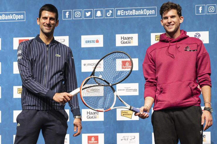 Novak Đoković i Dominik Tim