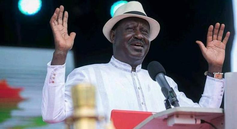 Former Prime Minister Raila Odinga during a past public event
