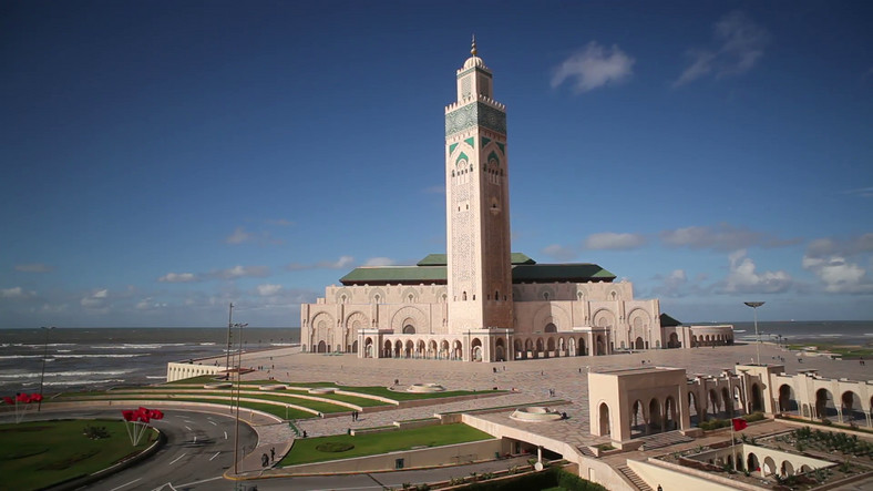 Africa's largest mosque, the Hussein II Mosque