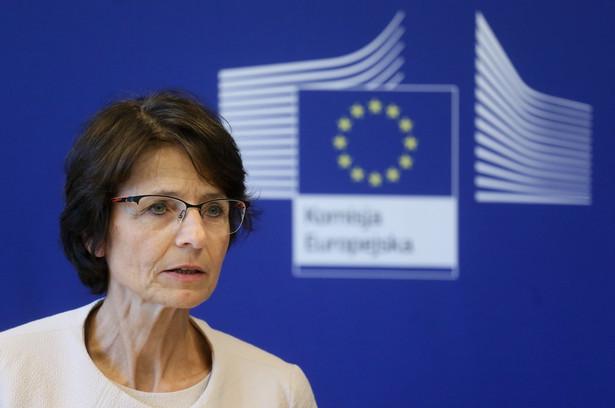 Komisarz Komisji Europejskiej ds. zatrudnienia, spraw społecznych i mobilności pracowników Marianne Thyssen, PAP/Pawel Supernak
