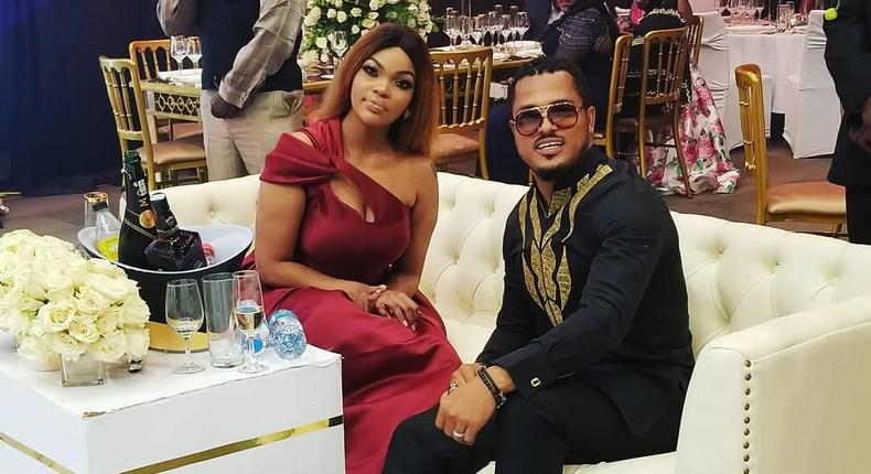 Van Vicker with Wema Sepetu. Wema Sepetu forced to apologise after locking out Journalists at her event