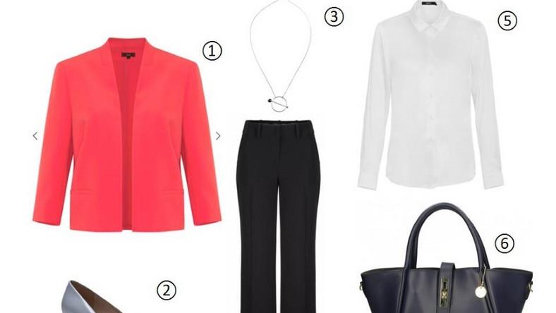 Twoja praca zawodowa wiąże się z określonym dress codem? Przygotowujesz się na rozmowę kwalifikacyjną? Jeśli obawiasz się, że formalny ubiór nie jest w stanie być interesujący, to jak najszybciej zmień zdanie. Podczas oficjalnych okazji połącz eleganckie elementy garderoby w różnych, intensywnych barwach, a stworzysz stylowe i atrakcyjne zestawienie. Czarne spodnie w kant – o modnym w tym sezonie rozszerzanym kroju – zestaw z karmazynowym żakietem z ozdobnymi przeszyciami. Wisior z zawieszką o geometrycznym kształcie oraz granatowa torebka w stylu Céline dodadzą szyku stylizacji. Wysokie szpilki zastąp klasycznymi czółenkami z niskim, kwadratowym obcasem.