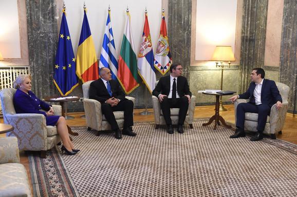 Premijeri Rumunije, Bugarske i Grčke sa Vučićem u Beogradu