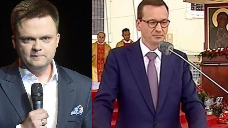 Szymon Hołownia, premier Mateusz Morawiecki