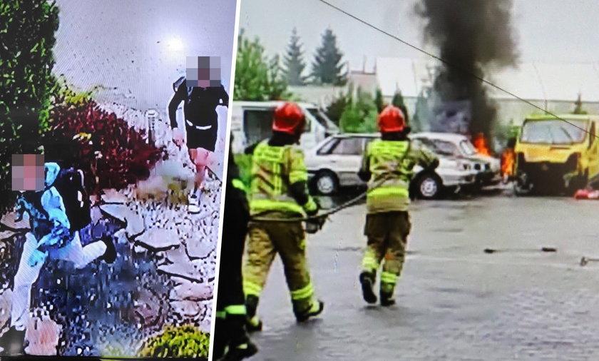 Dęblin. Trzej 11-letni wandale zniszczyli 7 samochodów. Jeden puścili z dymem
