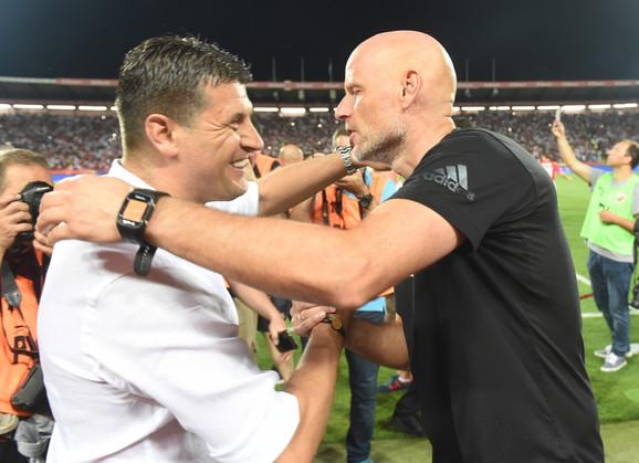 Pozdrav trenera, Milojevća i Solbakena