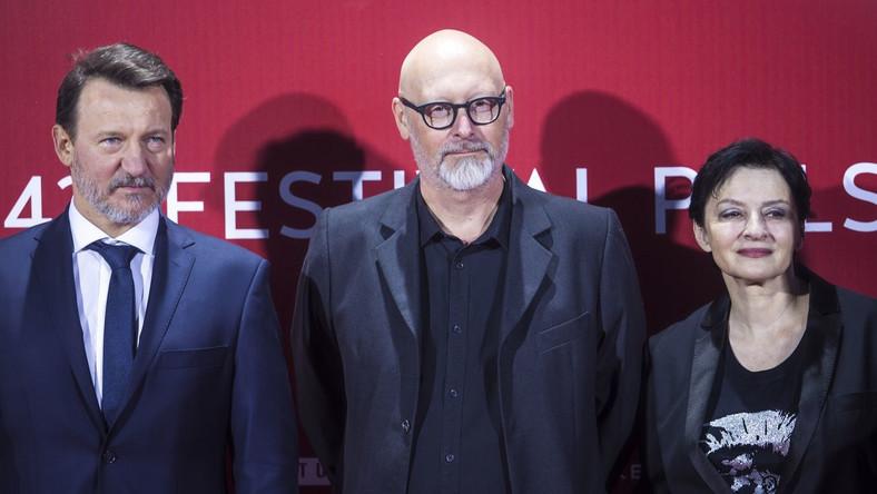 Wojciech Smarzowski i ekipa filmu Kler na Festiwalu.