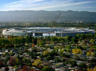 Apple Park powstało w Cupertino w stanie Kalifornia