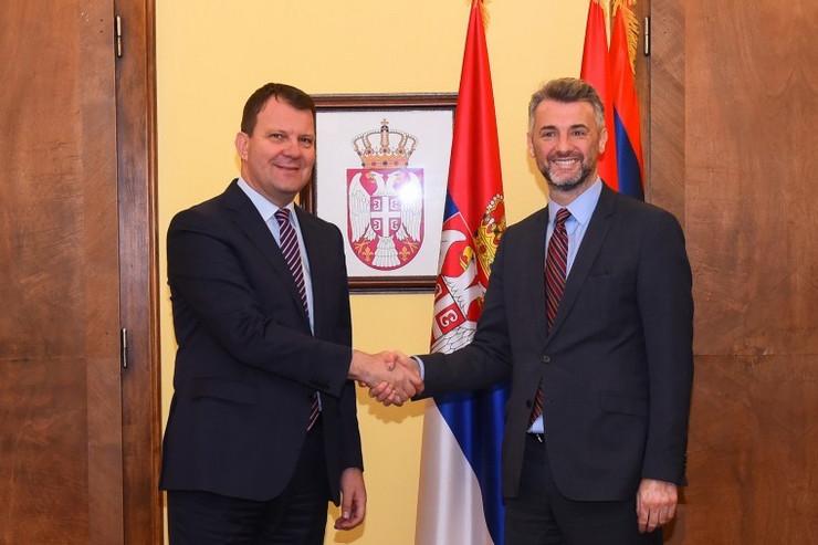 Mirović primio predsednika Vlade Kantona Sarajevo