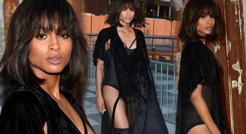 Ciaraat the Givenchy fashion show
