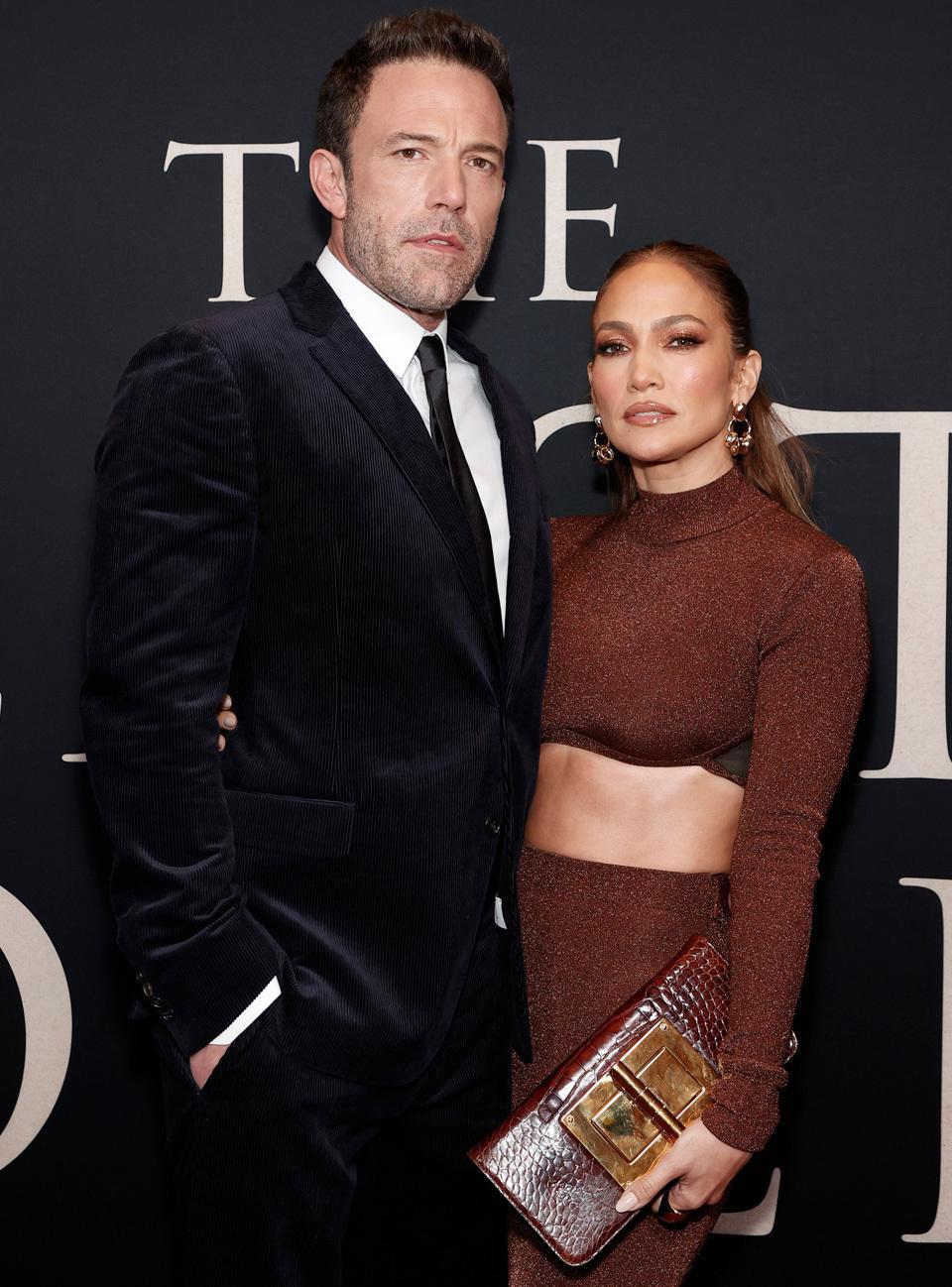 Ben Affleck y Jennifer Lopez en el estreno de The Last Duel