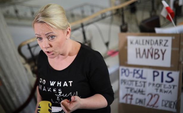 Iwona Hartwich z Komitetu Protestacyjnego Rodziców Osób Niepełnosprawnych