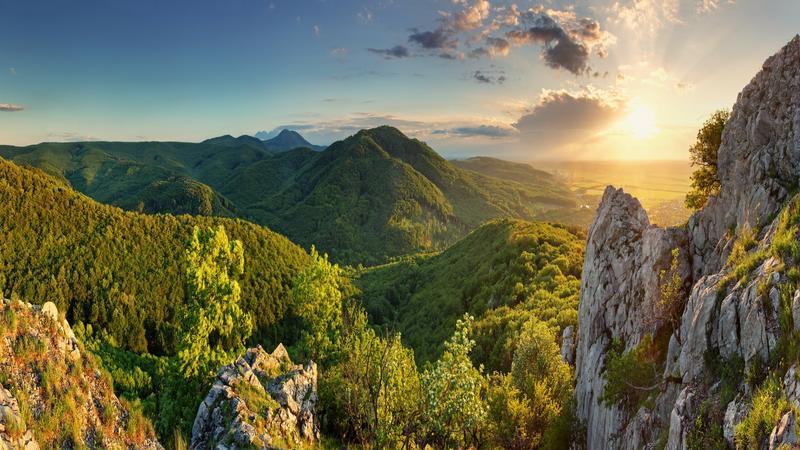 Záruby - najwyższe wzniesienie Małych Karpat (768 m n.p.m.)
