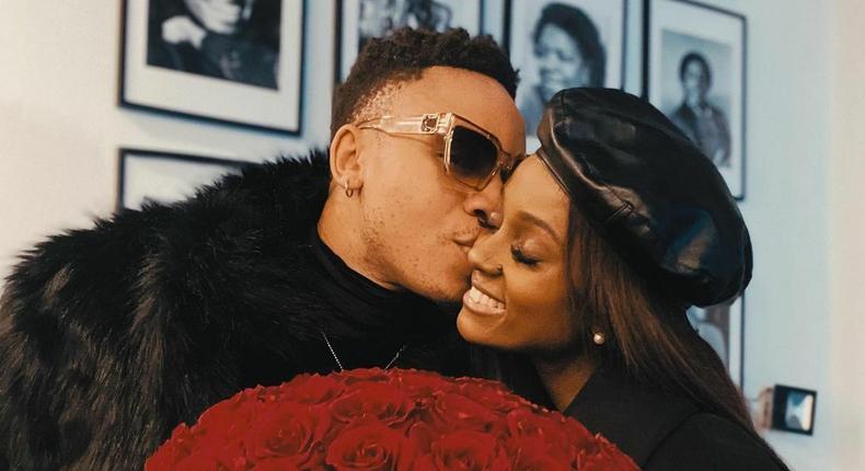 Singer Vanessa Mdee and fiancé Rotimi