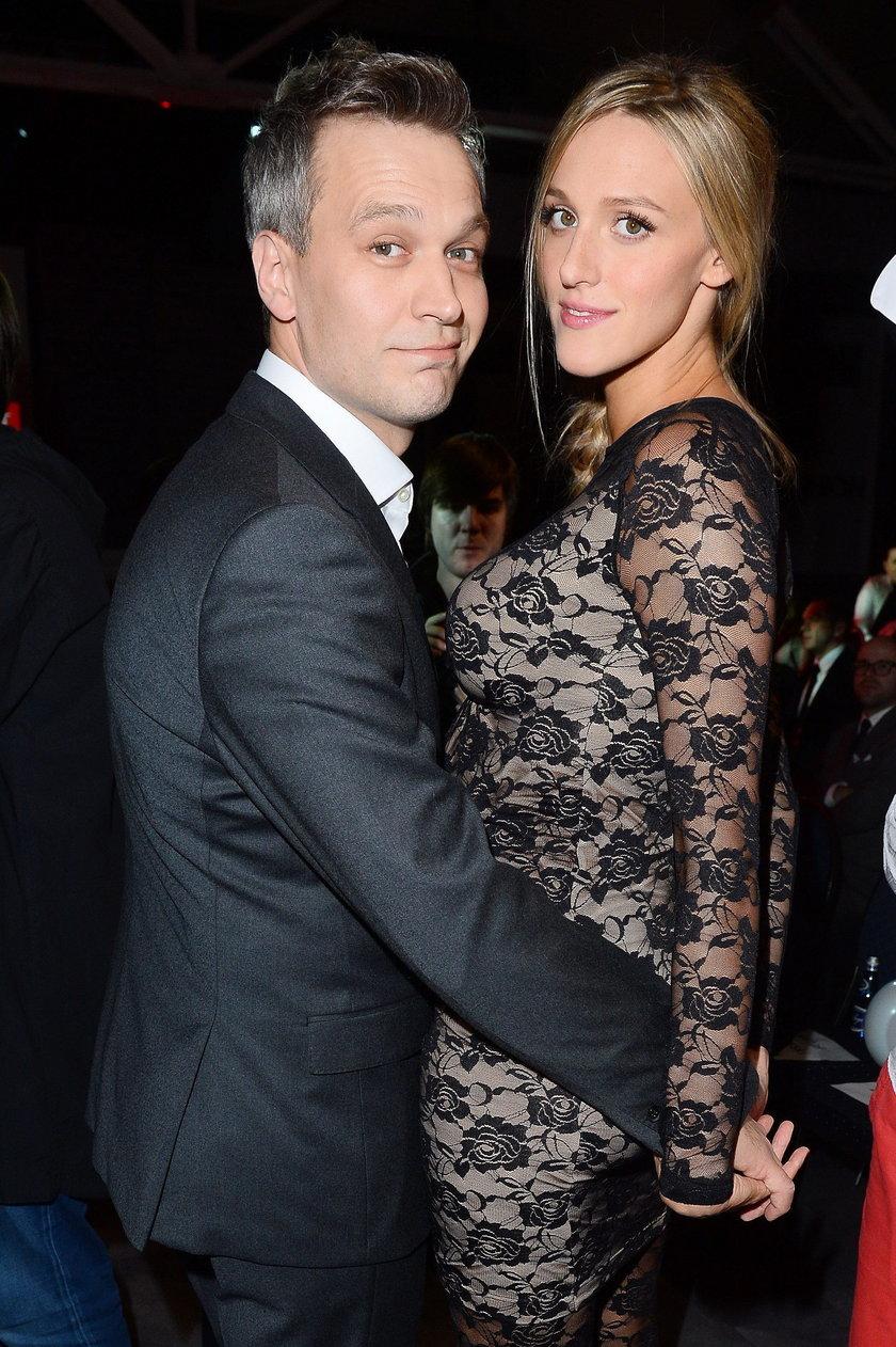 Michał Żebrowski i żona
