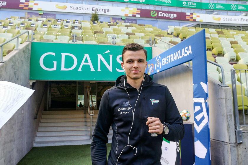 Pilka nozna. Ekstraklasa. Lechia Gdansk. Trening. 04.04.2019