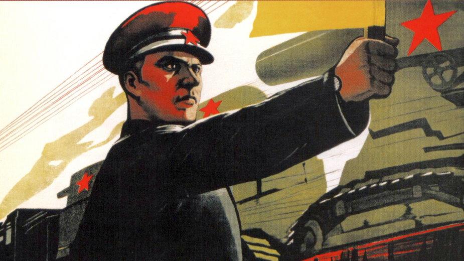 Plakat propagandowy Armii Czerwonej