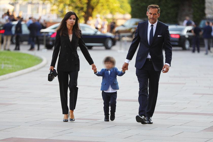 Marta Kaczyńska z mężem Piotrem Zielińskim i synkiem Stasiem