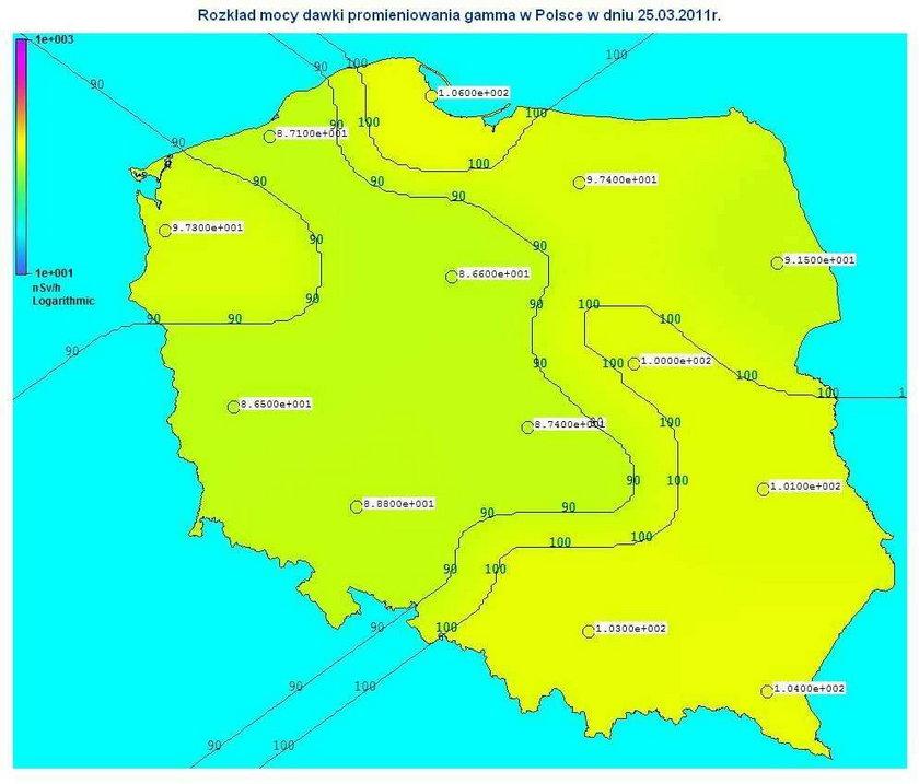 Nad Polską wzrosło stężenie radioaktywnego jodu!