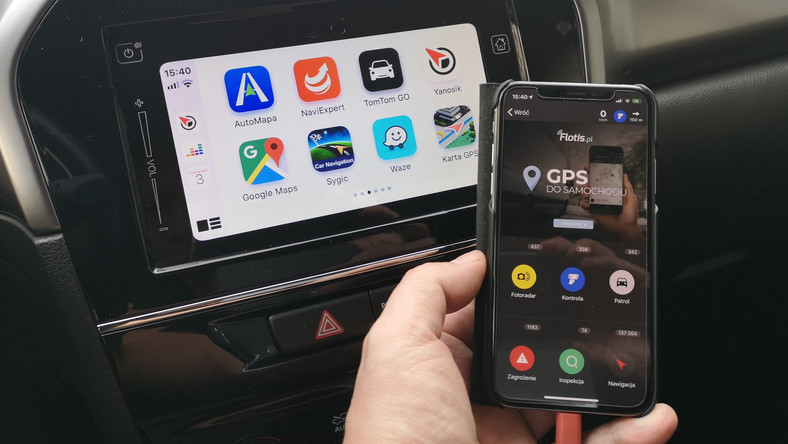 Yanosik w Apple CarPlay