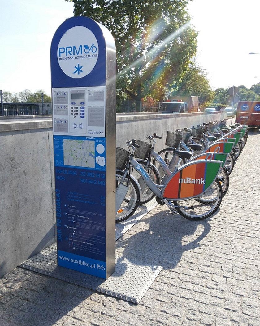 W weekend Poznańskie Rowery Miejskie w promocji