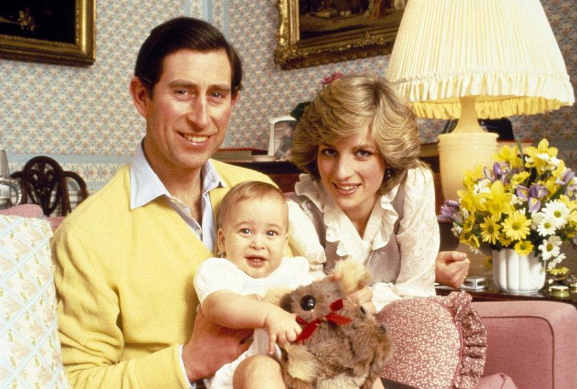 Księżna Diana, książę Karol i mały William