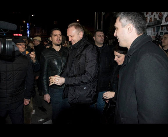 Đilas i Obradović na protestima