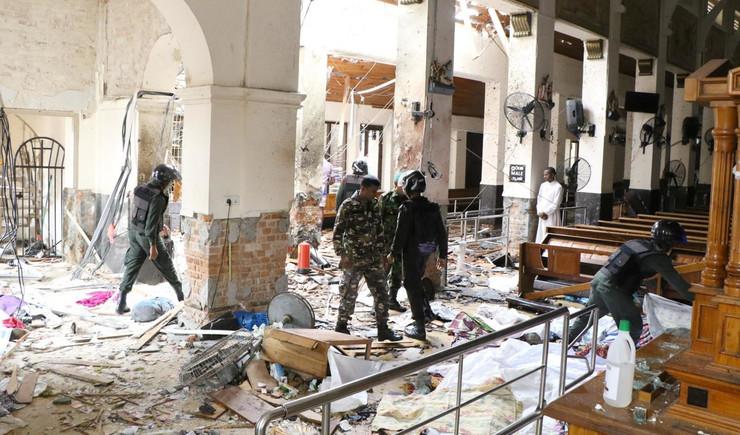 Šri Lanka, bombaški napad, Usrks