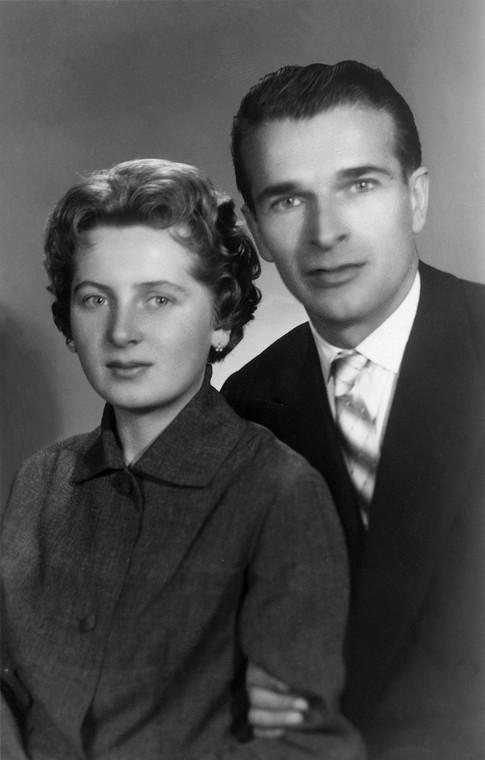Maria Teresa Kiszczak i Czesław Kiszczak