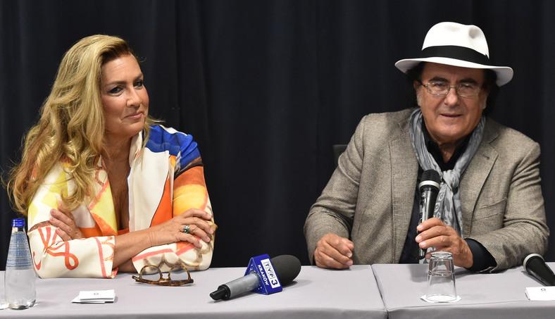 Romina Power i Al Bano podczas konferencji prasowej w Krakowie