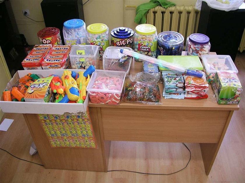 Dzieci okradły hurtownię cukierków!