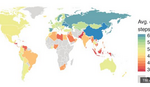 MAPA LENJIVACA Naučnici su rangirali zemlje po fizičkoj aktivnosti. Tu je negde i SRBIJA