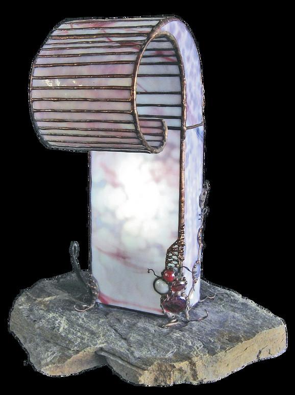 Ljubičasta izmaglica (Purple Haze), 2007, 35x30x41cm, staklo, kamen