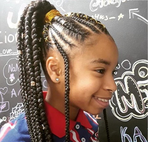 Miraculous 10 Cornrow Styles For Your Daughter Article Pulse Live Kenya Natural Hairstyles Runnerswayorg