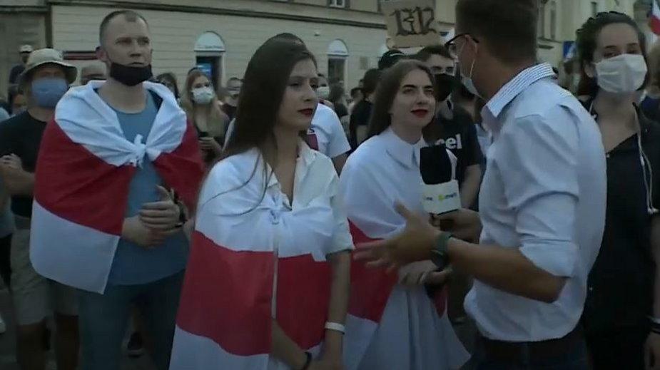 Protest Białorusinów w Warszawie