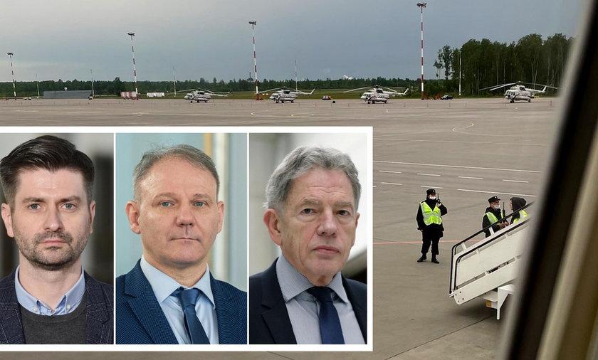 Politycy komentują zawrócenie samolotu LOT na lotnisku w Petersburgu