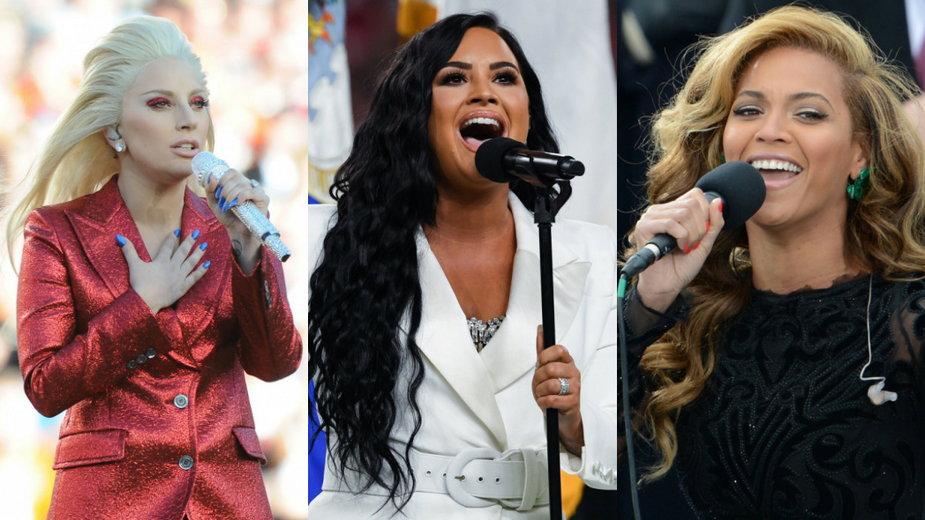 Lady Gaga, Demi Lovato, Beyonce