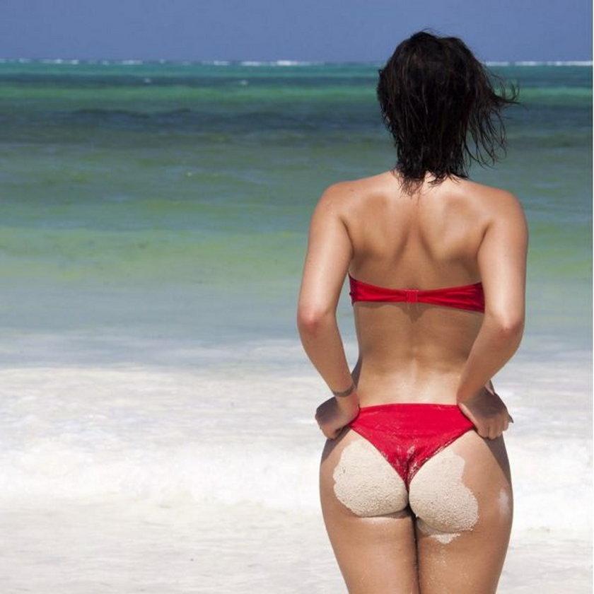 Honorata Skarbek na plaży