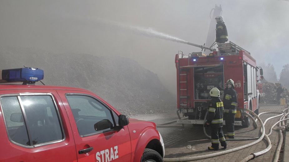 Pożar obory w Redykach koło Gołdapi