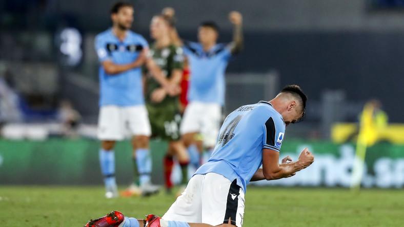 Piłkarze Lazio cieszą się z sukcesu