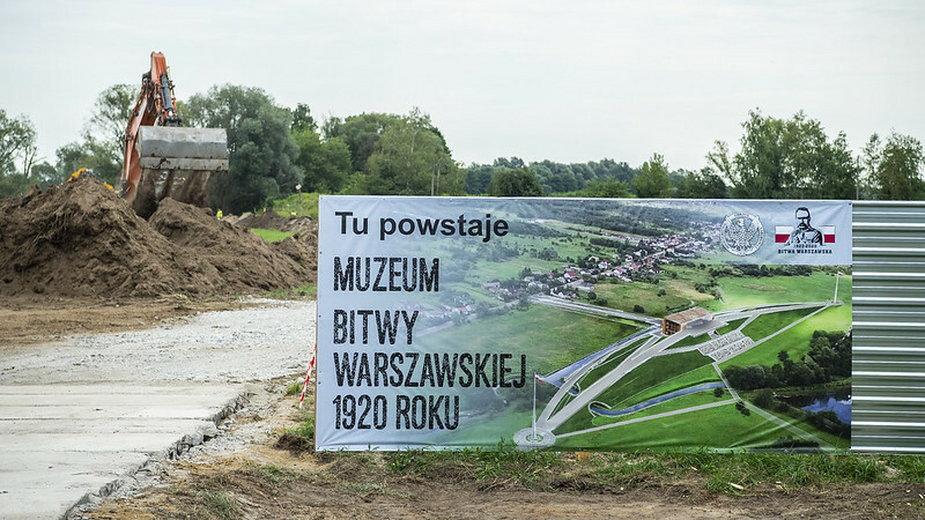 Plac budowy i projekt Muzeum Bitwy Warszawskiej