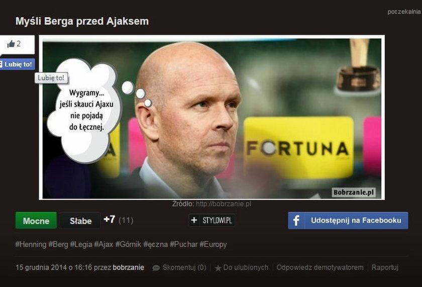 """""""Wygramy jeśli skauci Ajaxu nie pojadą do Łęcznej"""". Memy o losowaniach LM i LE."""