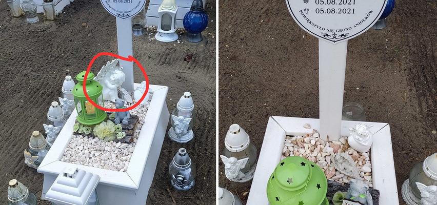 Bezlitosny złodziej okradł grób małego dzieciątka. Jak mu nie wstyd?!