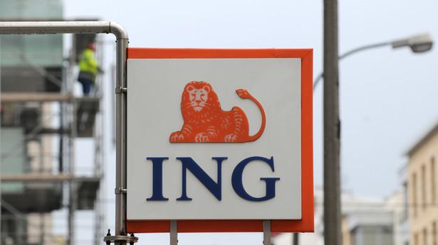 Logo na placówce ING Bank Śląski