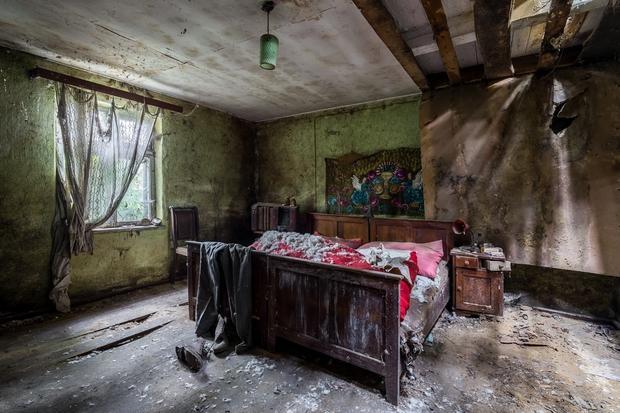 Opuszczona chata w powiecie kaliskim